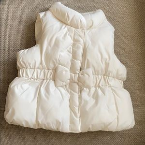 Baby Gap Ivory Frost Baby Girl Bow Vest Size 0-6M
